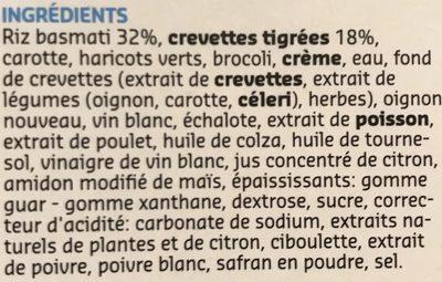 Waterzooi aux scampis - Ingrédients - fr