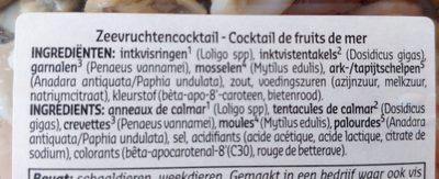 Cocktail de fruits de mer - Ingrédients - fr