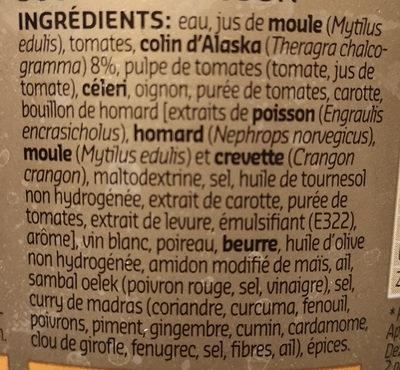 soupe poisson - Ingredients - fr