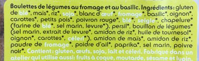 Bällchen Käse-basilikum / Boulettes Fromage Basili. .. - Ingredients