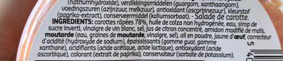 Sunny salads carotte - Ingredients
