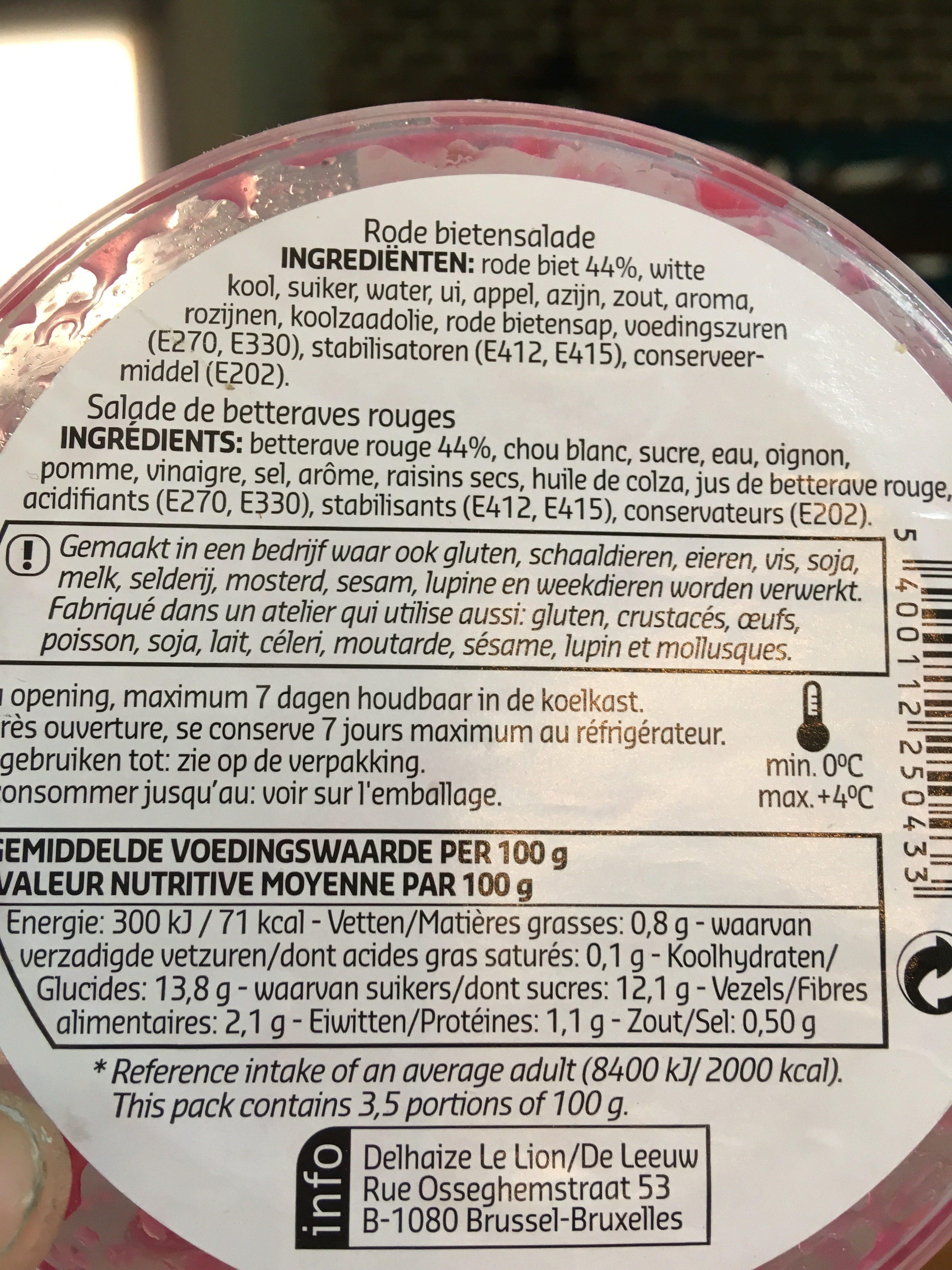 Sunny salads bettraves rouges - Ingrediënten - fr