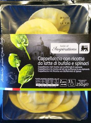 Cappellaccio à la ricotta de lait de bufflone et aux épinards - Produit - fr