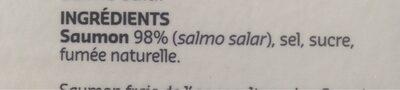 Saumon fumé des Orcades (Ecosse) - Ingredients - fr