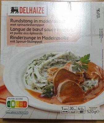 Langue de boeuf sauce Madère - Product - fr
