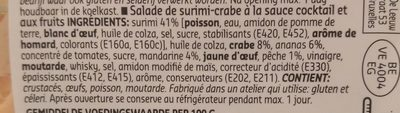 Surimi et crabe en sauce cocktail - Ingredients - fr