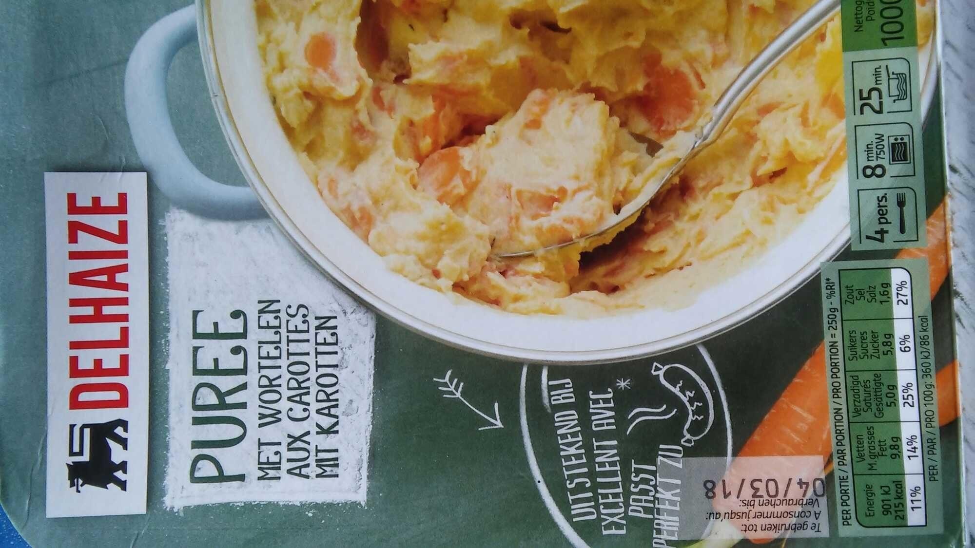 Puree met wortelen - Product - nl