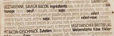 Veggie jambon - Ingrediënten - fr