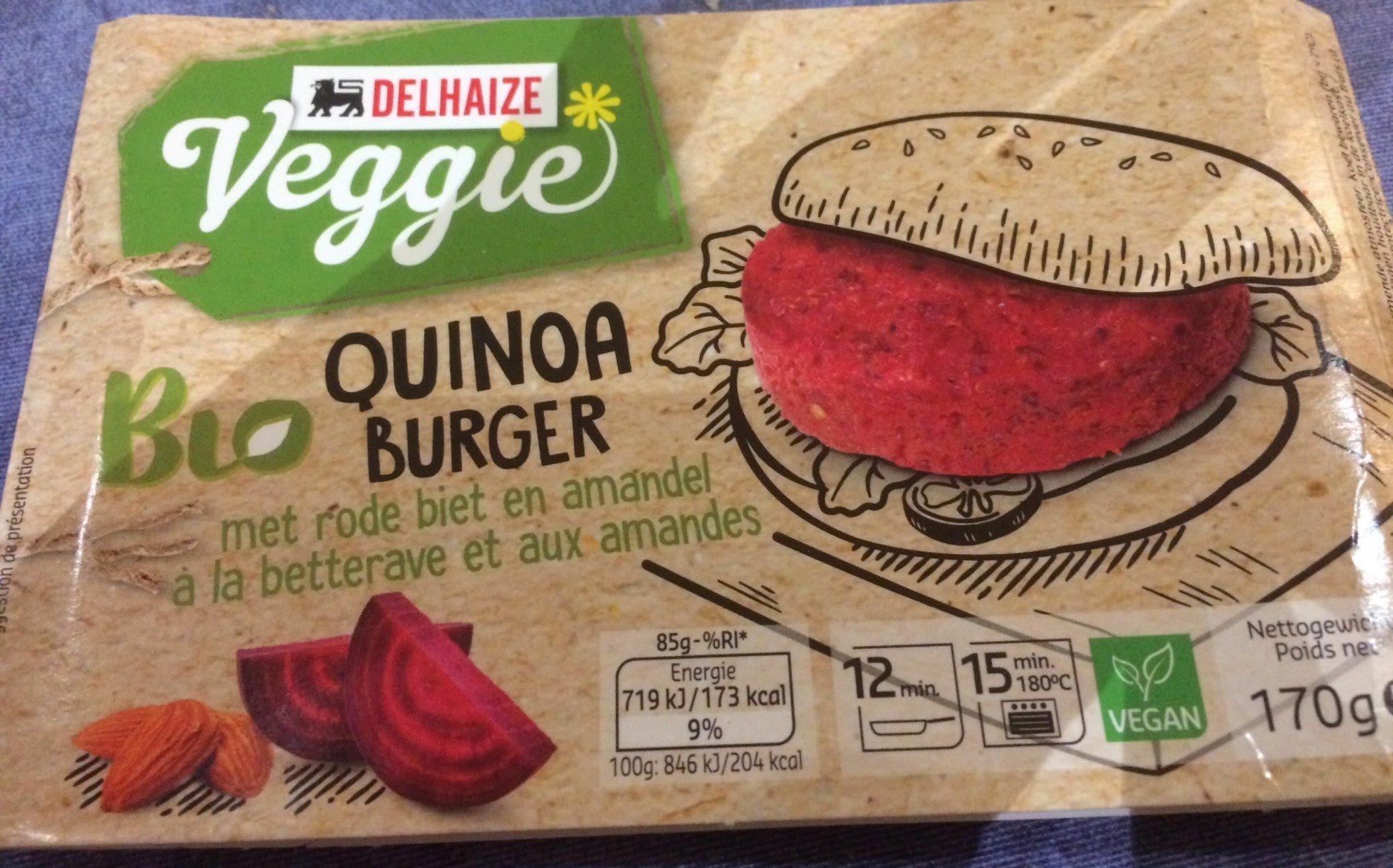 Veggie Burger Quinoa, Betteraves Et Amandes - Product