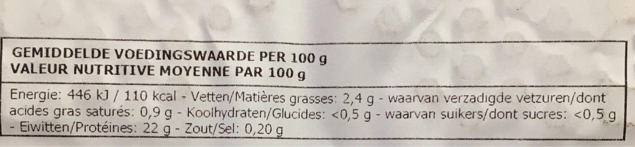 Filet de Poitrine - Ingrediënten