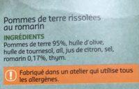 Pommes de terre rissolées au romarin - Ingrediënten - fr