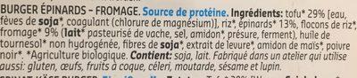 Spinat Käseburger - Ingrediënten - fr