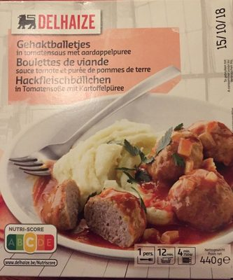 Boulettes de viande, sauce tomate et purée de pomme de terre - Product - fr