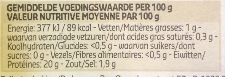 Crevettes grises fraiches belges - Voedingswaarden - fr