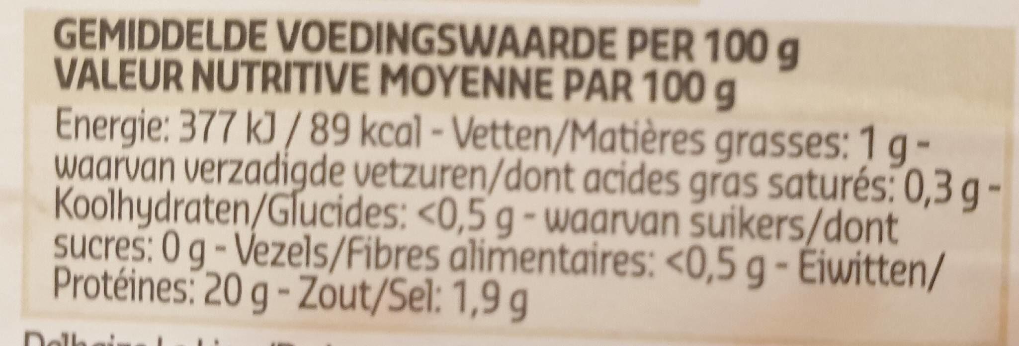 Crevettes grises fraiches belges - Informations nutritionnelles - fr