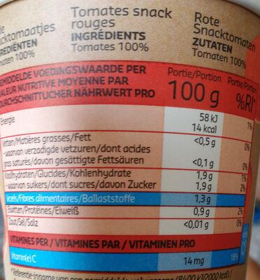 Kids tomates bonbon - Informations nutritionnelles - fr