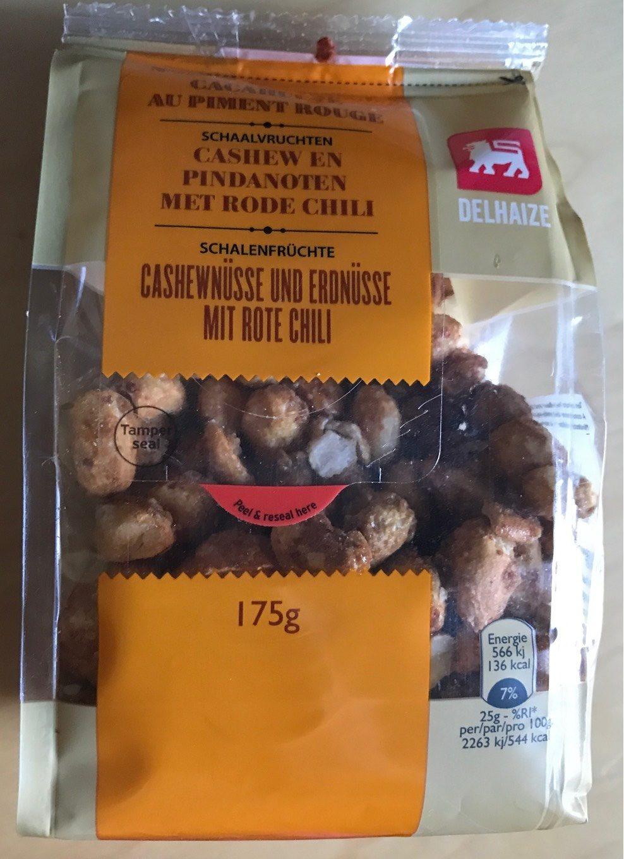 Noix de cajou et cacahuete au piment rouge - Produit - fr