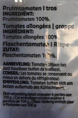 Tomates Grappes Allongées - Ingrediënten - fr