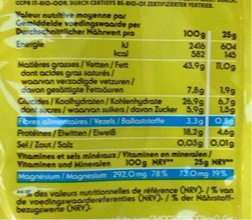 Noix De Cajou Bio - Voedingswaarden - fr