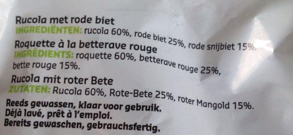 Roquette à la betterave rouge - Ingrediënten - fr