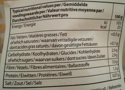 Salade mixte - Voedingswaarden