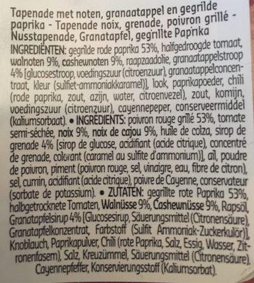 Tapenade PAPRIKA et NOIX - Ingrediënten