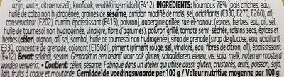 Hummus à la libanaise - Ingrediënten