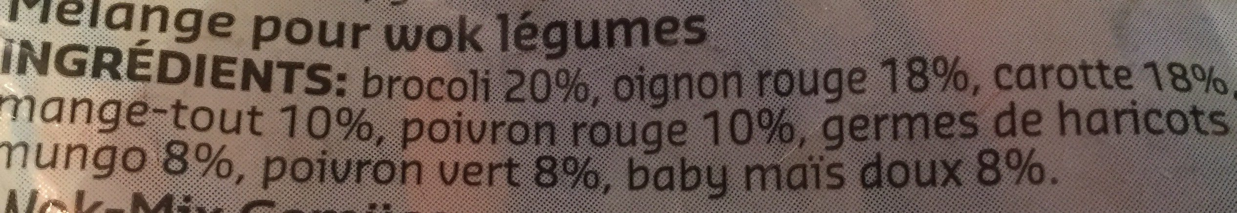 Melange pour wok legume - Ingrédients - fr