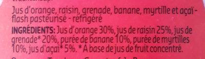 Super Fruit - Jus de fruit grenade - Ingrédients