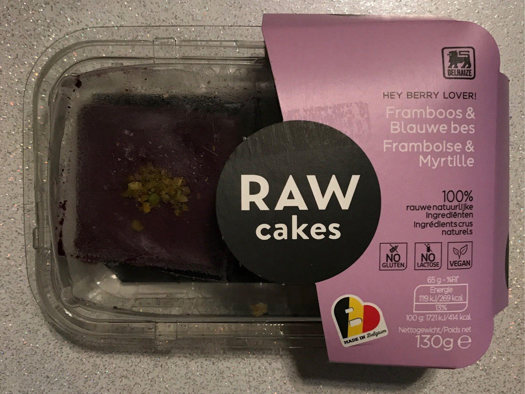 Raw Cake Framboise et Myrtille - Product - fr