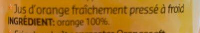 Jus d'orange fraîchement pressé à froid - Ingrediënten - fr