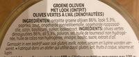 Olives a l'ail - Ingrediënten - fr