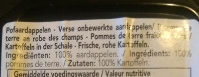 Pomme de terre en robe des champs - Ingredients - fr