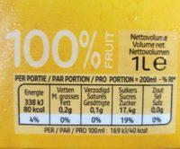 Pure classic jus d'orange - Informations nutritionnelles - fr