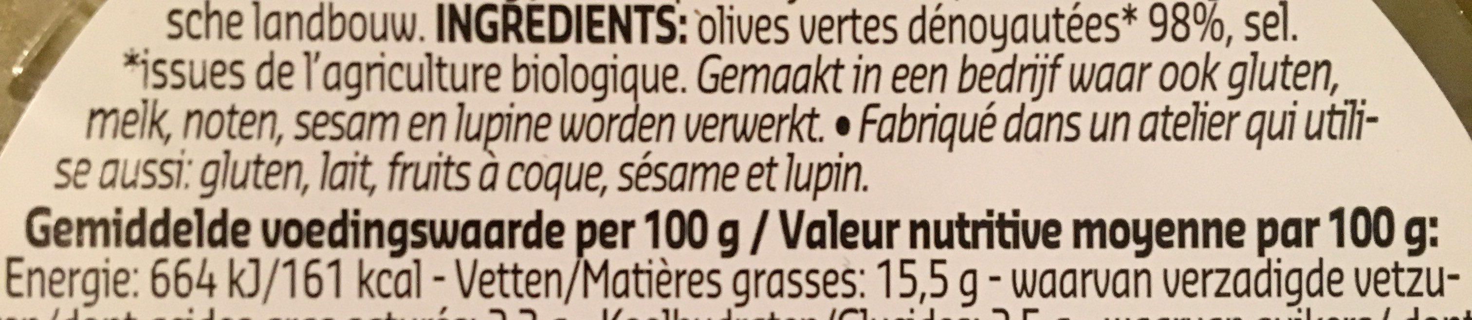 Olives vertes - Ingrediënten