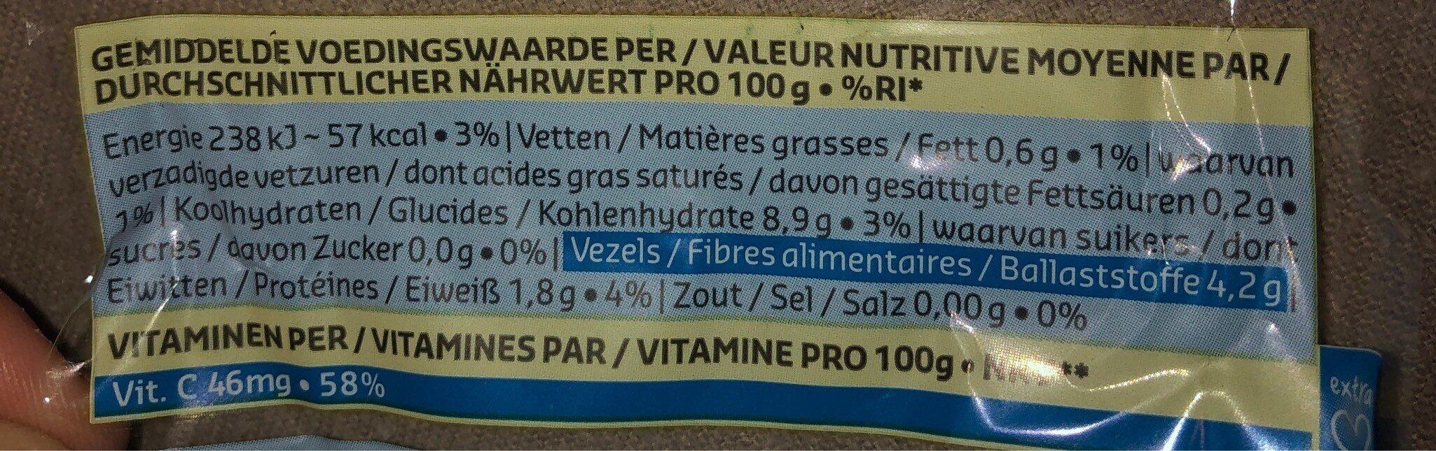Physalis - Voedingswaarden - fr