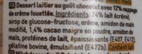 Choco topping - Ingrediënten - fr