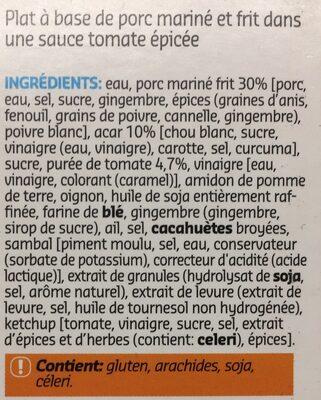 Delhaize - Ingrediënten