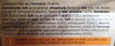 Croquettes au fromage - Ingrédients - fr