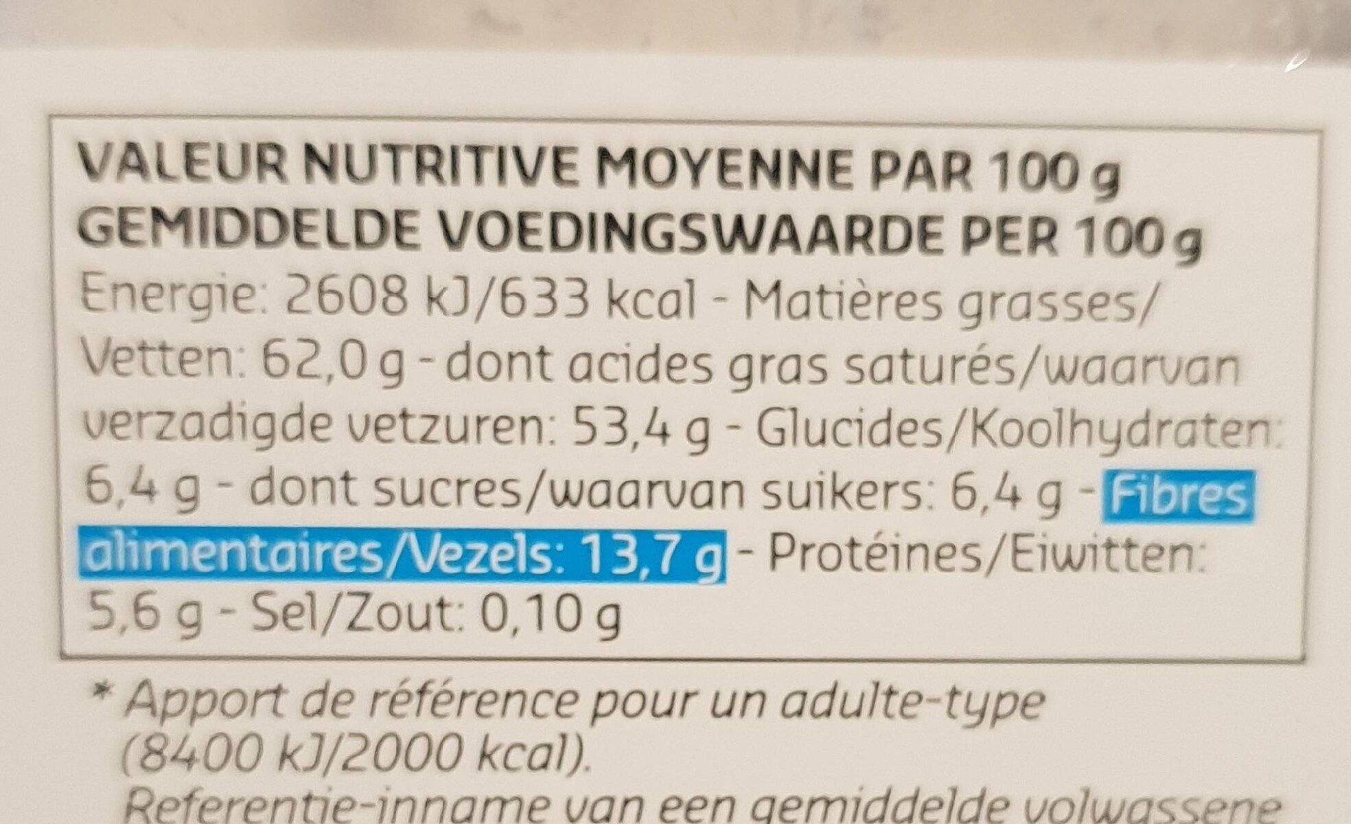 Noix de coco en poudre - Voedingswaarden - en