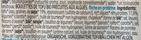 Boulettes aux algues - Ingrediënten - fr