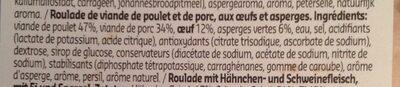 Roulade aux asperges - Ingrediënten