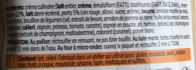 Sauce archiduc - Culinary - Ingrediënten - fr