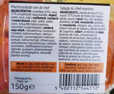 Martino du chef - Ingrédients - fr