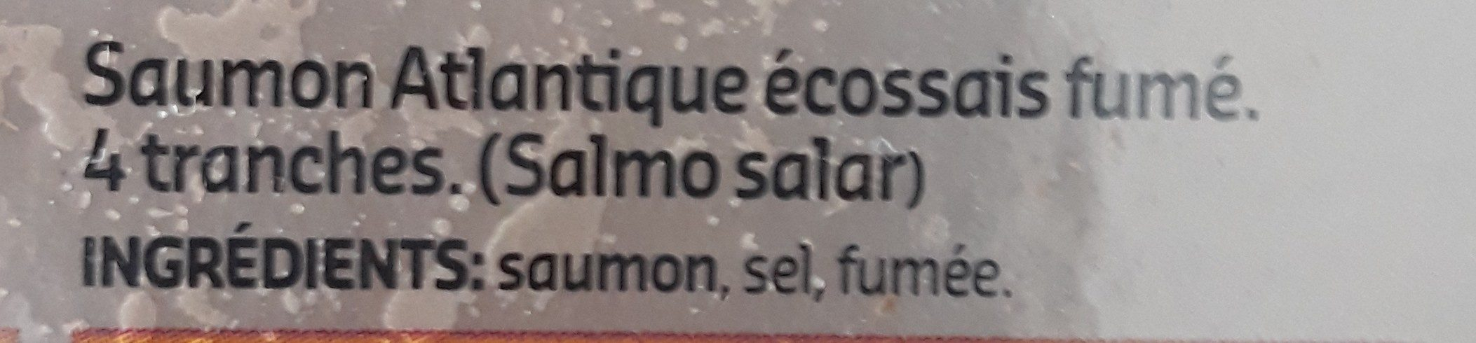 Saumon fumé Écosse - Ingrédients - fr