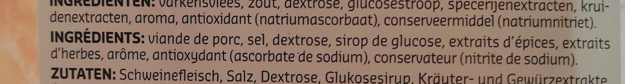 Jambon cuit dégraissé - Ingrediënten - fr
