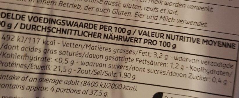 Jambon rôti au four - Voedingswaarden - fr