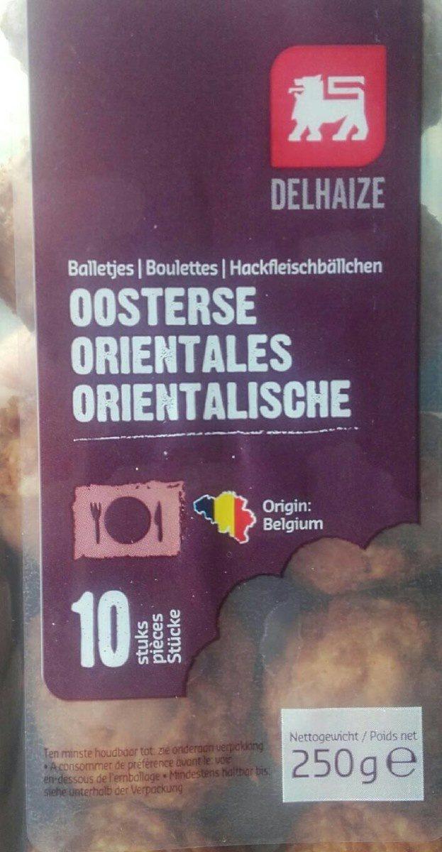 Boulettes orientales - Voedingswaarden - fr