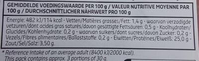 Filet de saxe - Informations nutritionnelles - fr