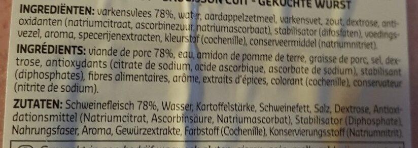Saucisson de jambon - Ingrédients - fr